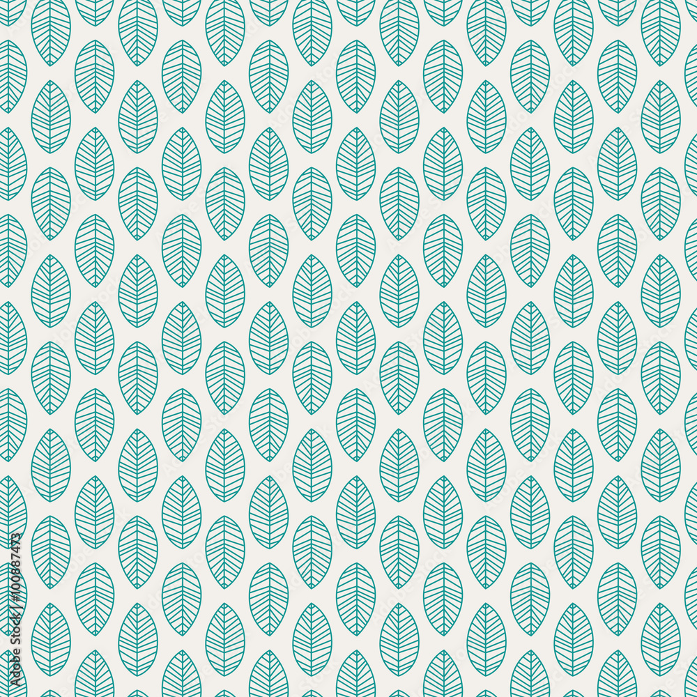 Tapeta seamless pattern with leaves
