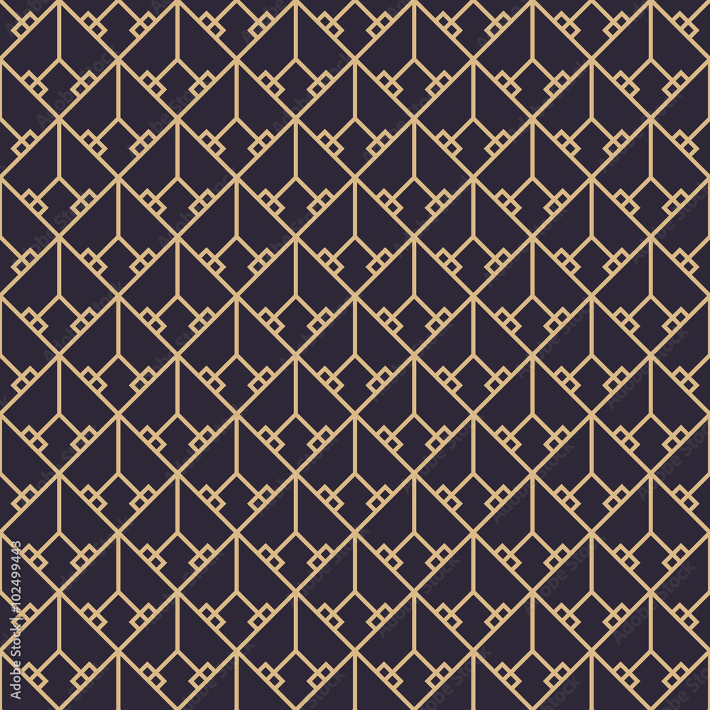 Tapeta Geometric gold luxury pattern