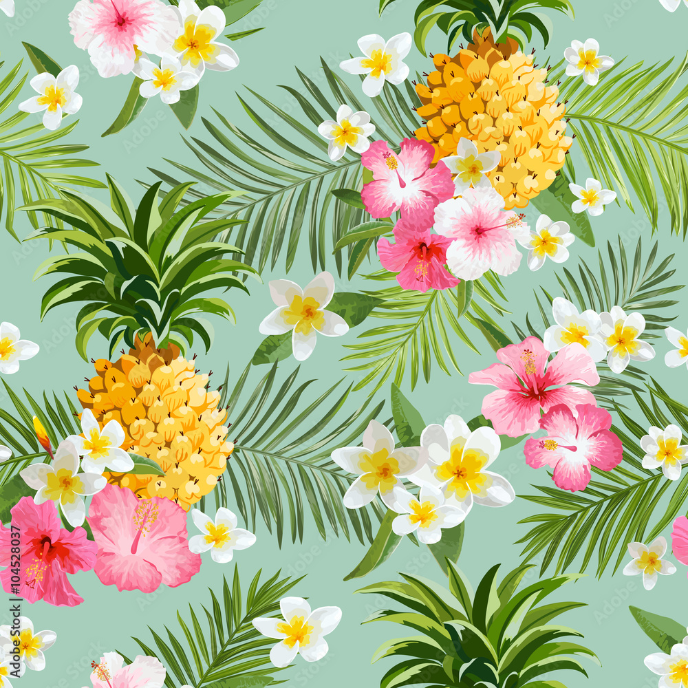 Tapeta Tropical Flowers and