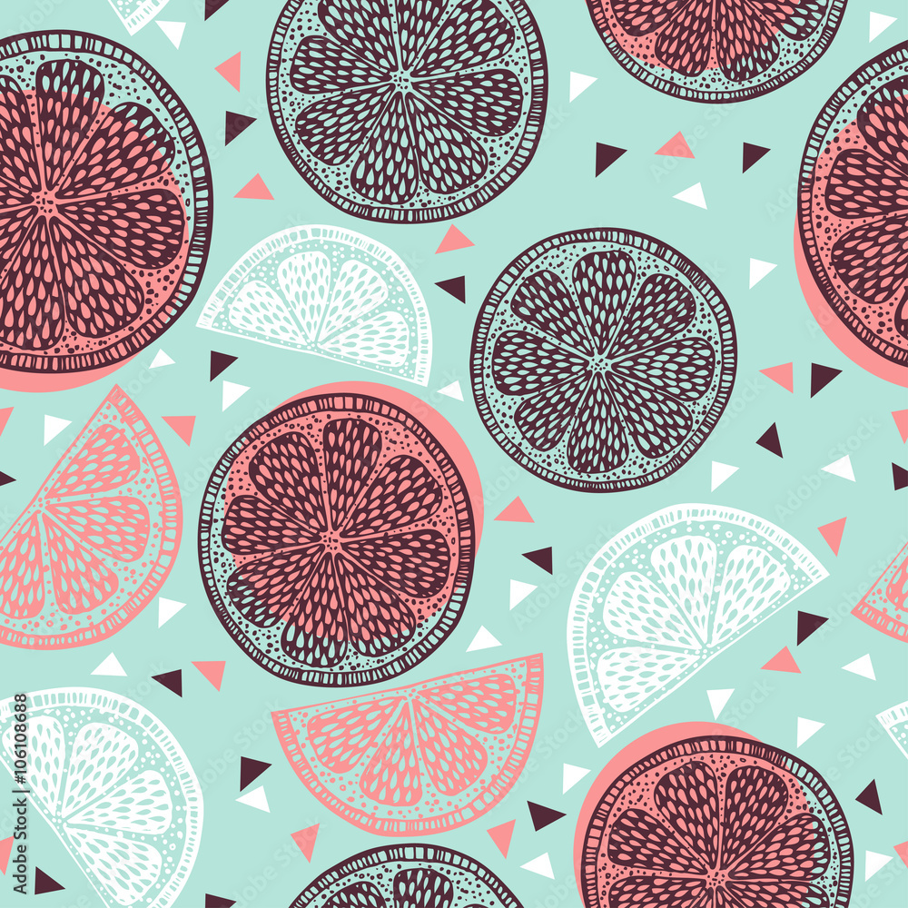 Fototapeta Citrus pattern graphics