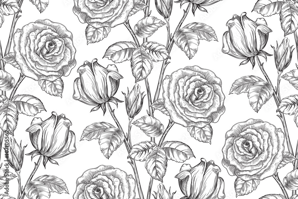 Tapeta Vintage floral background.