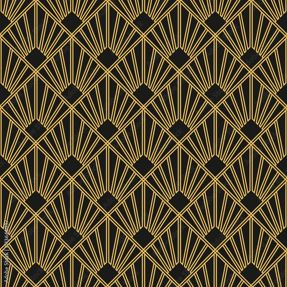 Tapeta Art Deco seamless vintage