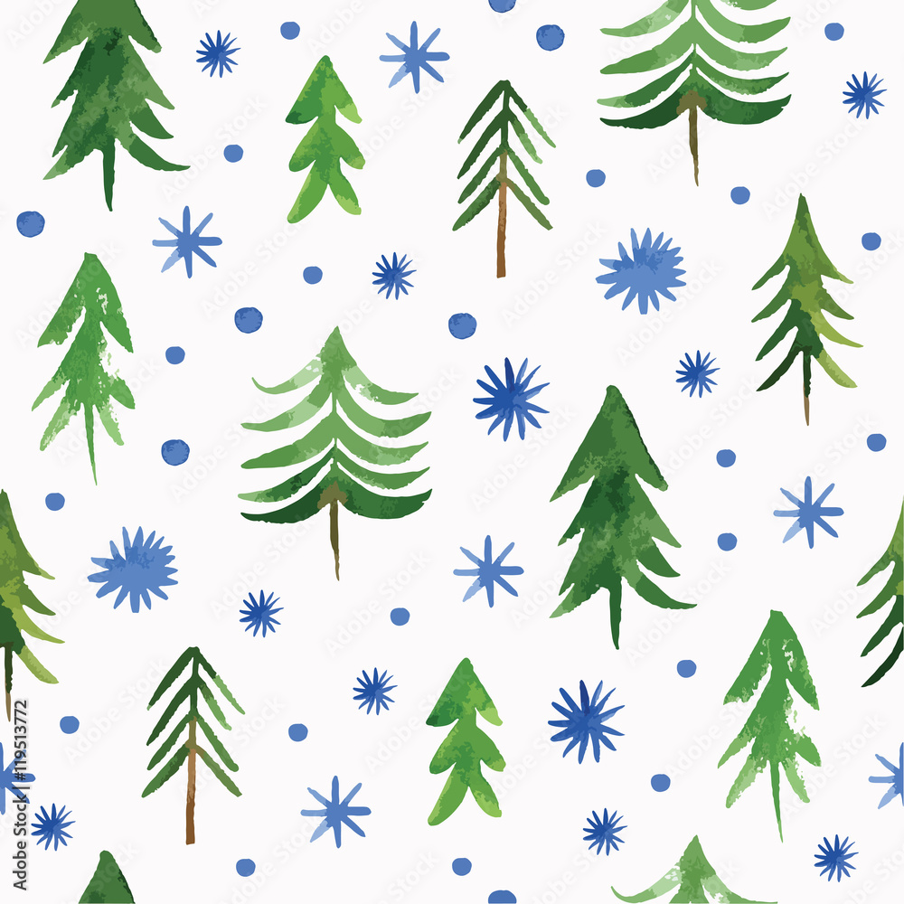 Tapeta Christmas seamless pattern