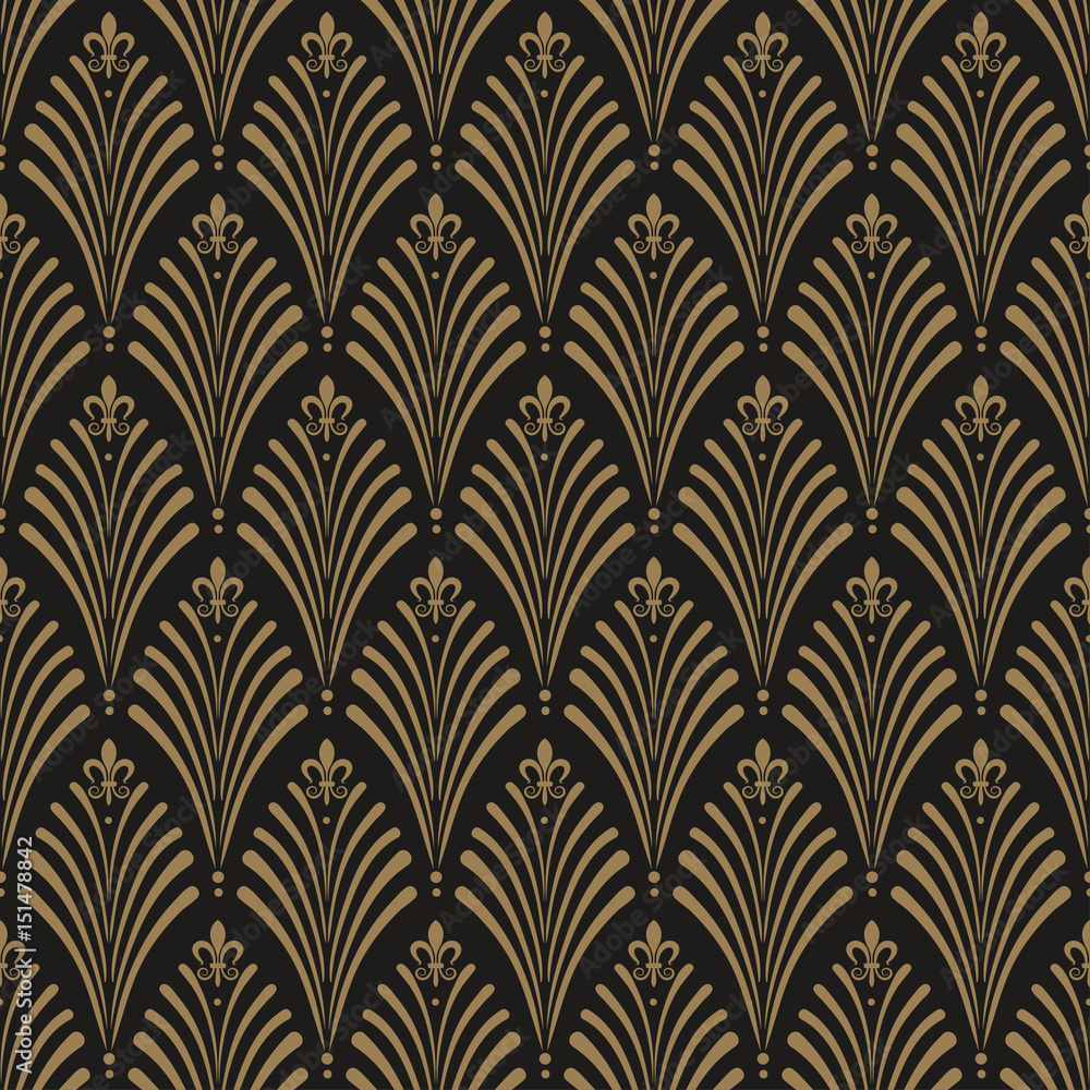 Tapeta Art Deco, seamless wallpaper