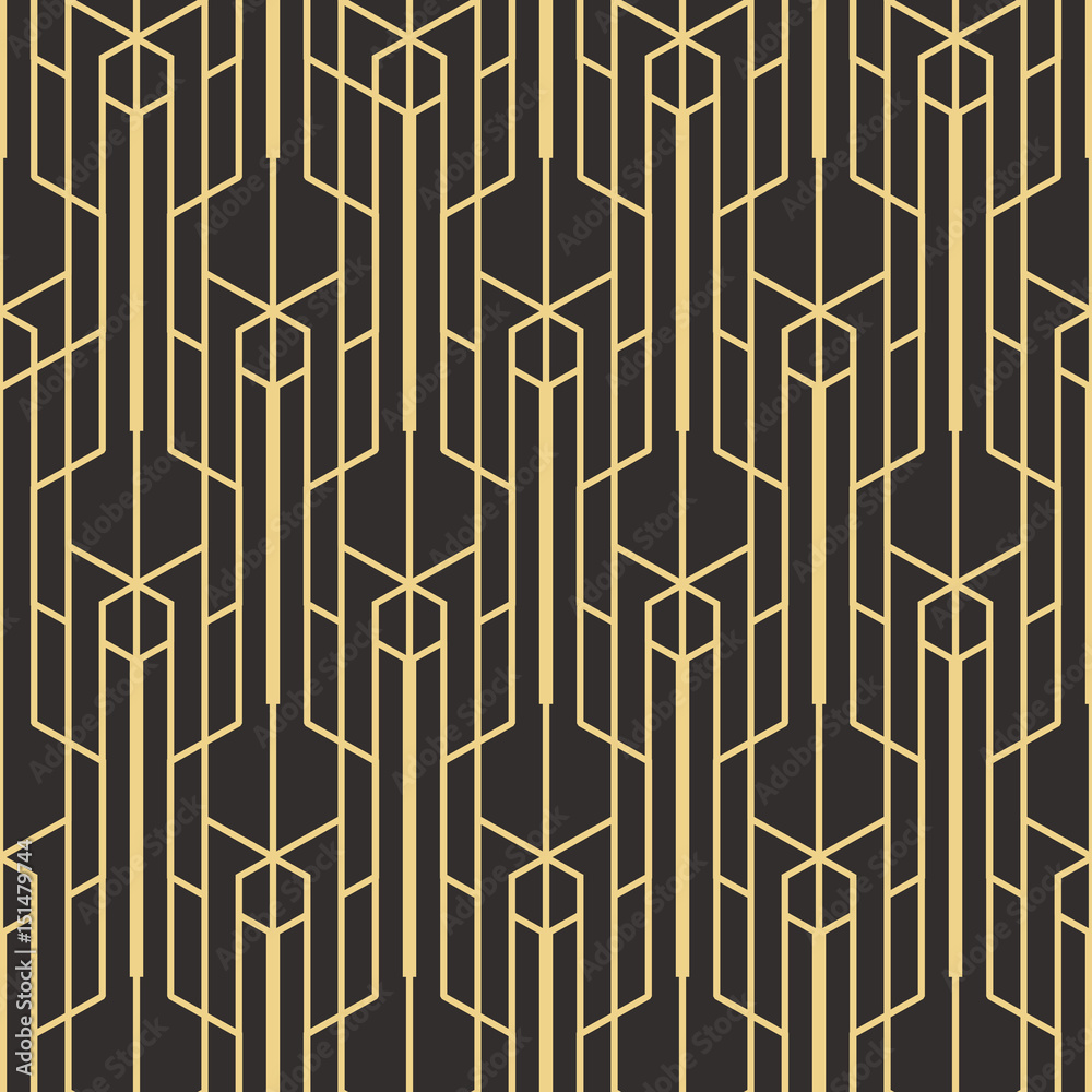 Tapeta Abstract art deco seamless