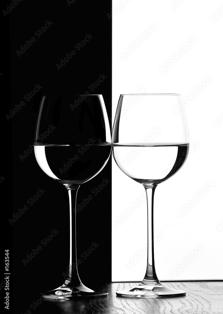 Obraz Tryptyk two wine glasses