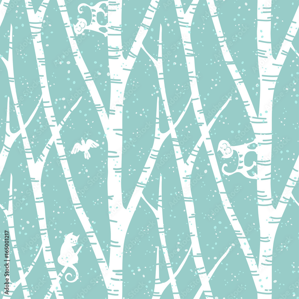 Tapeta seamless trendy pattern with