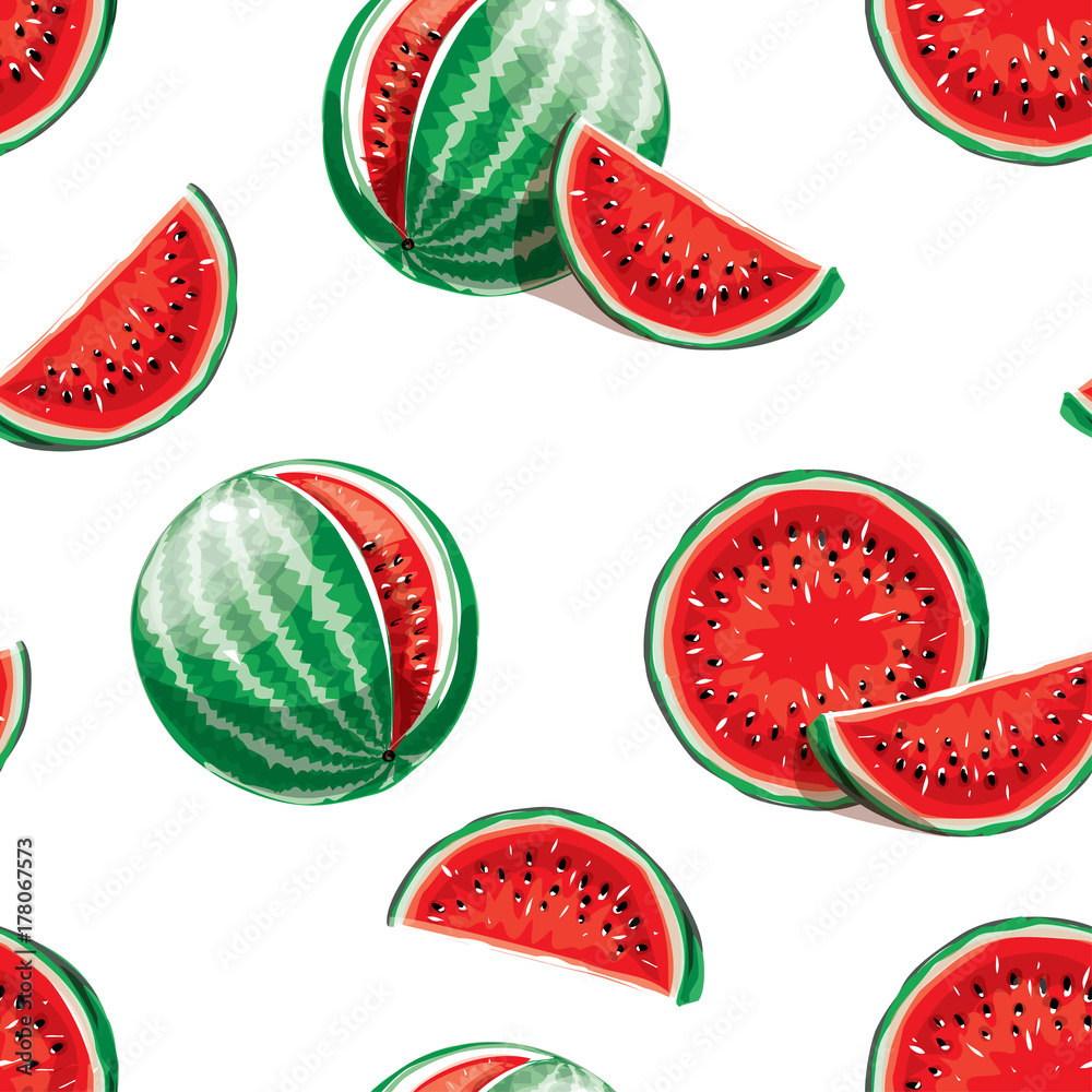 Tapeta Watermelon pattern. Seamless