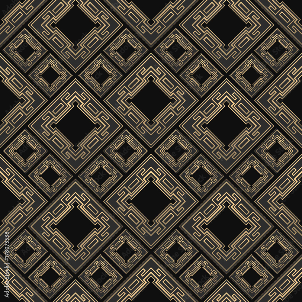 Tapeta Seamless pattern in Art Deco