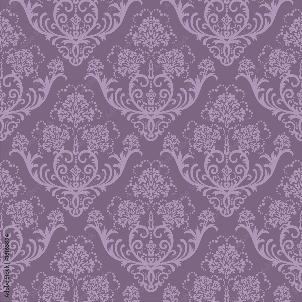Tapeta Seamless purple floral
