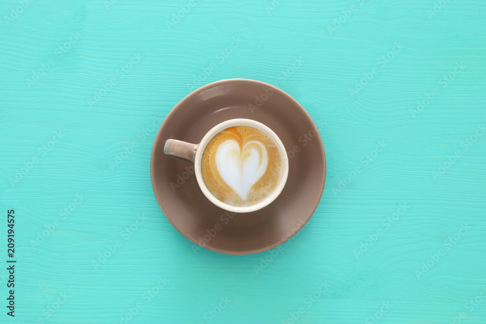 Fototapeta image of coffe cup with foam