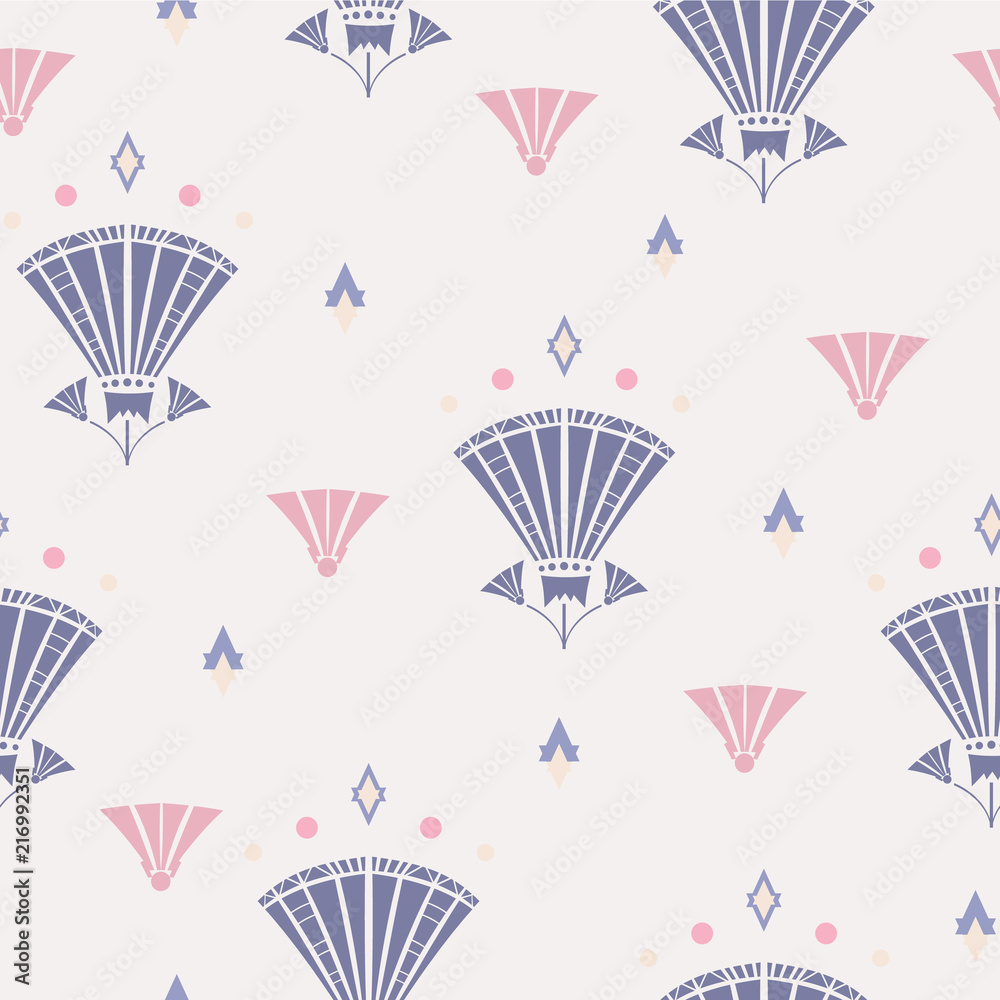 Obraz Tryptyk Vector Seamless pattern of
