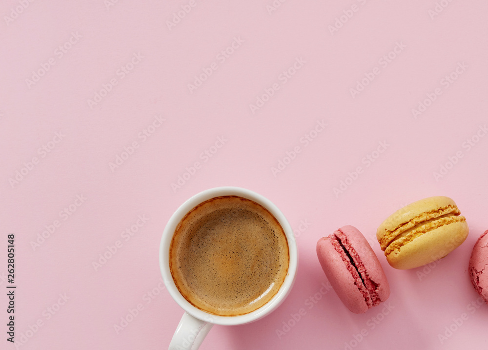 Fototapeta Macaroons and coffee