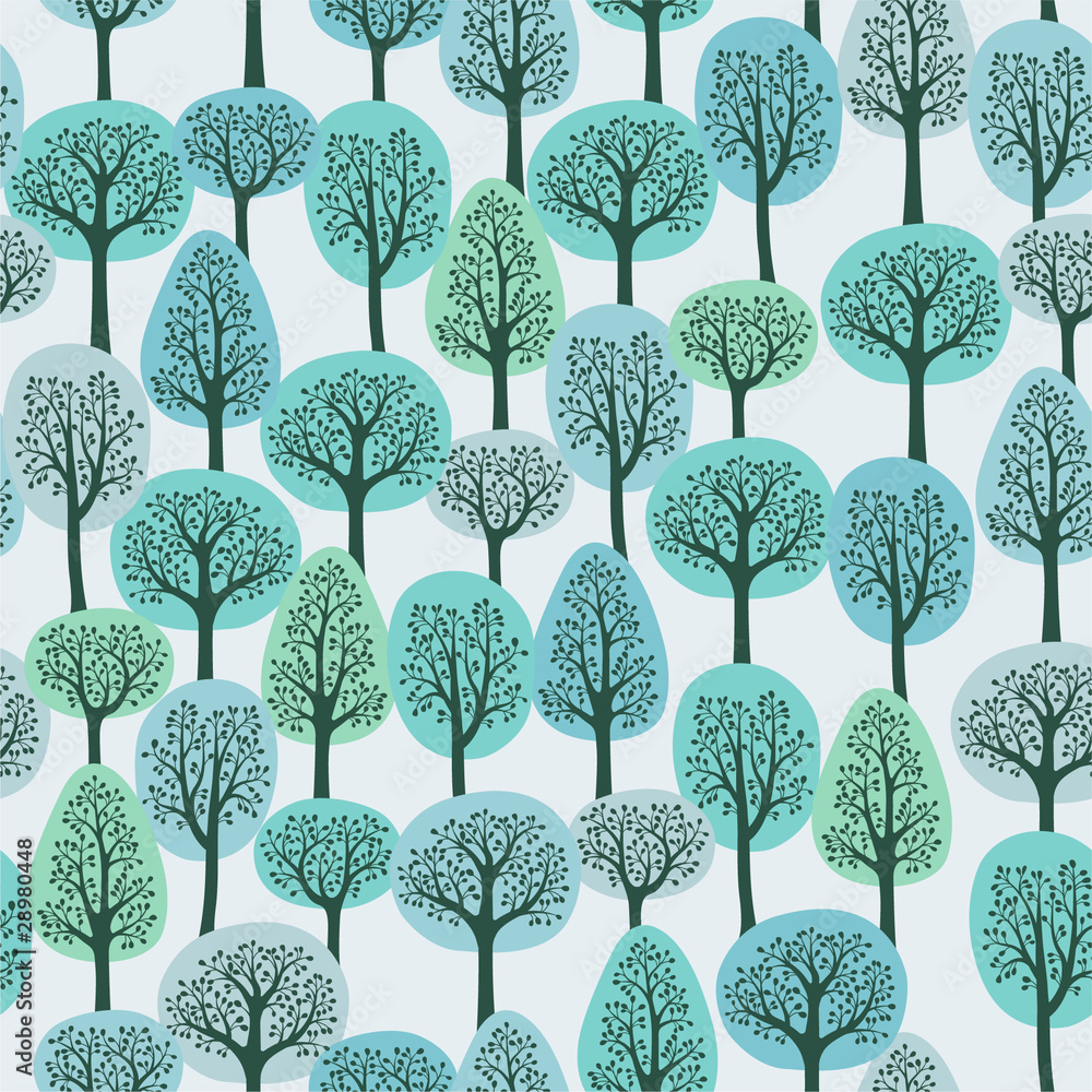 Tapeta seamless pattern with a winter
