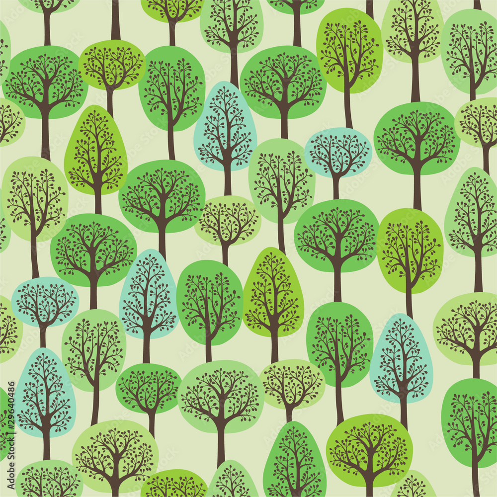 Tapeta seamless pattern with a green