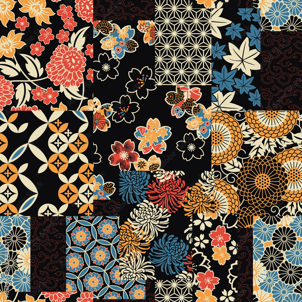 Tapeta Traditional Japanese textile