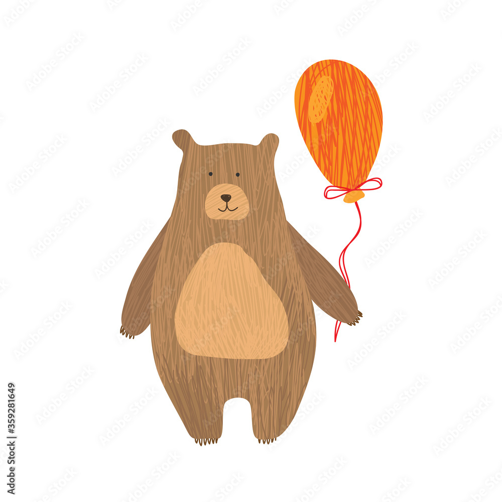 Obraz Dyptyk Vector drawing of bear for