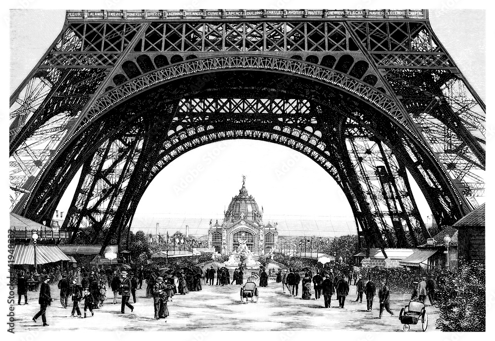 Fototapeta Paris - Eiffel Tower - 19th