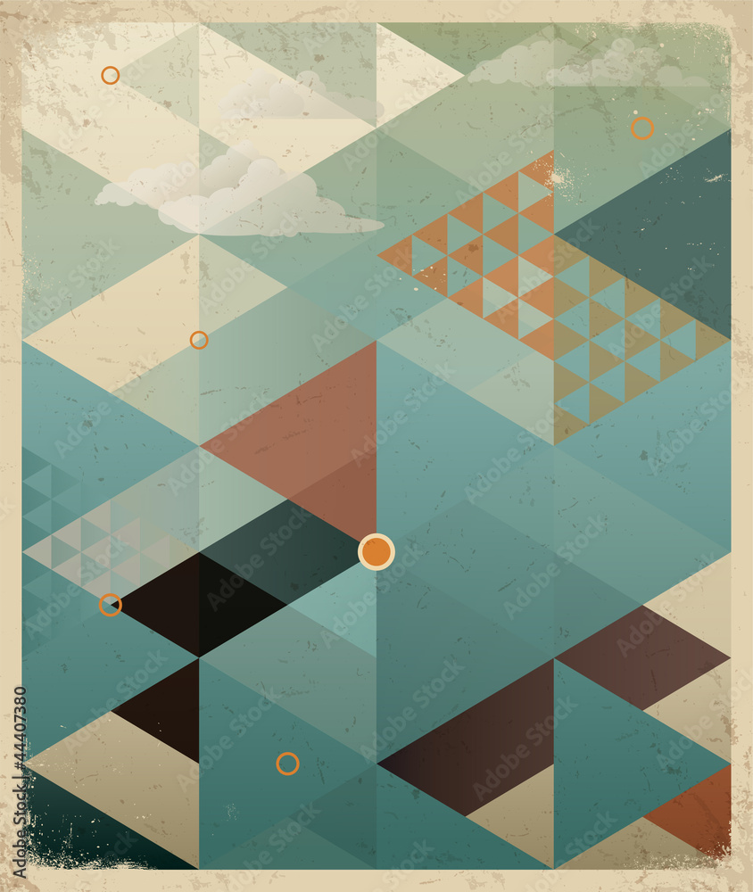 Fototapeta Abstract Retro Geometric