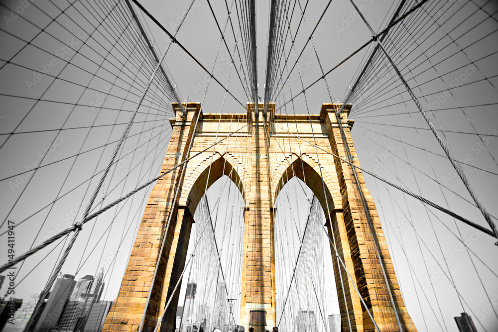 Fototapeta The Brooklyn bridge, New York