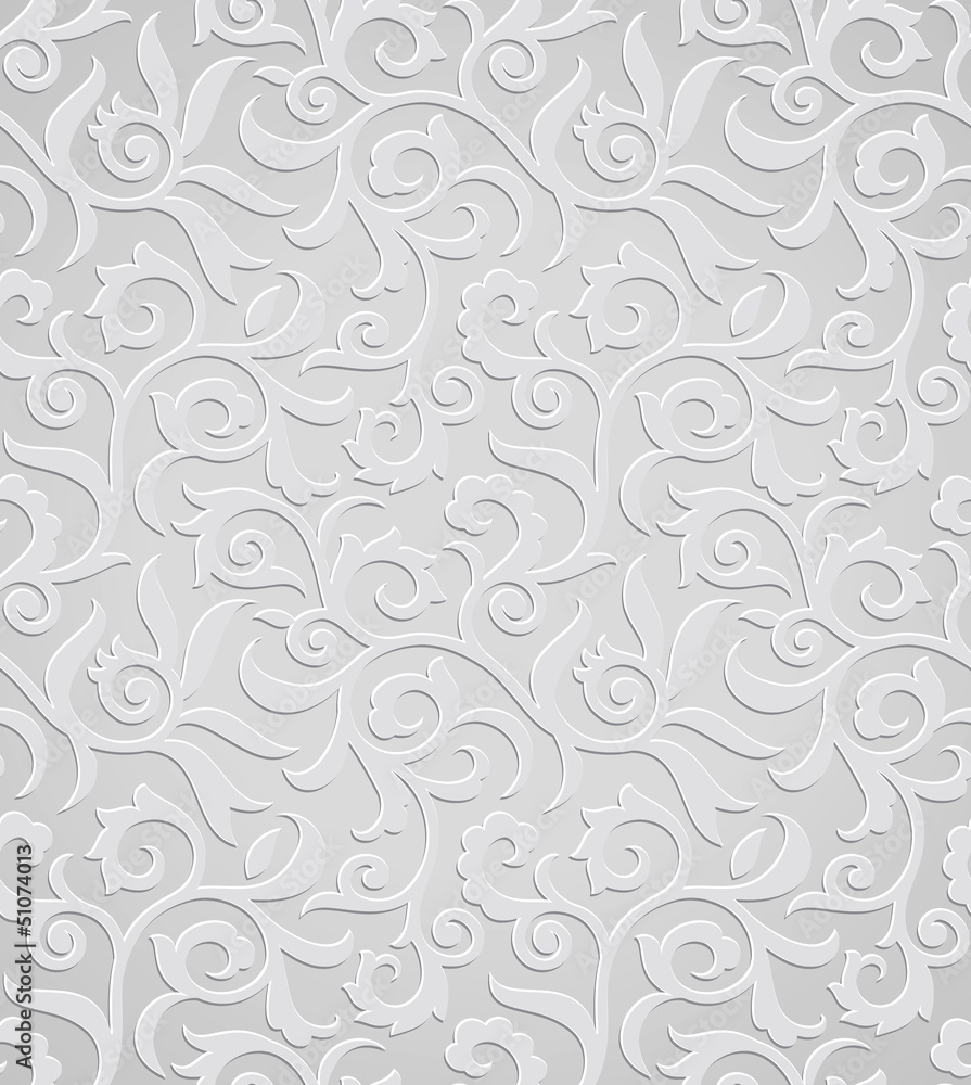 Tapeta Traditional silver wallpaper