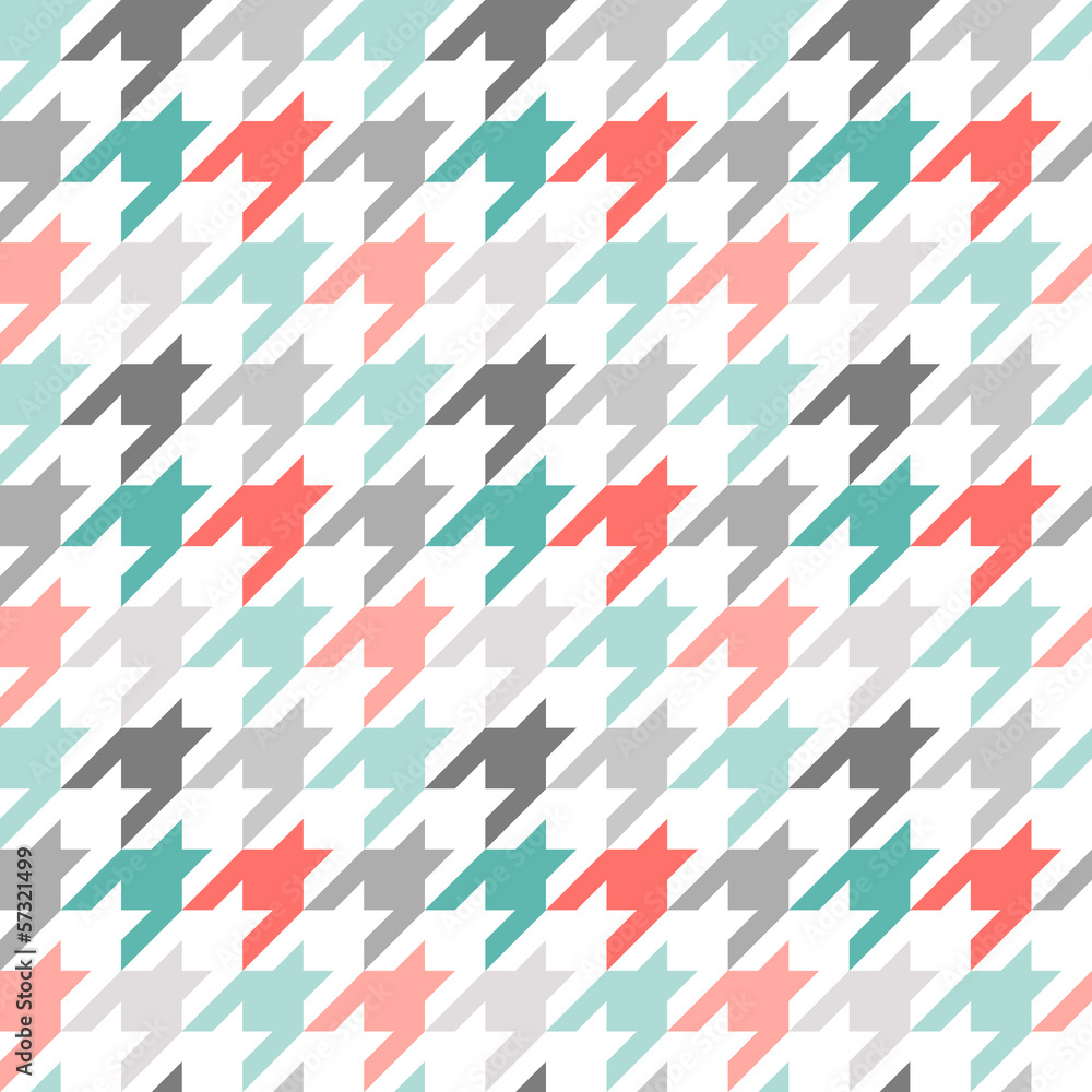 Tapeta Houndstooth seamless pattern,
