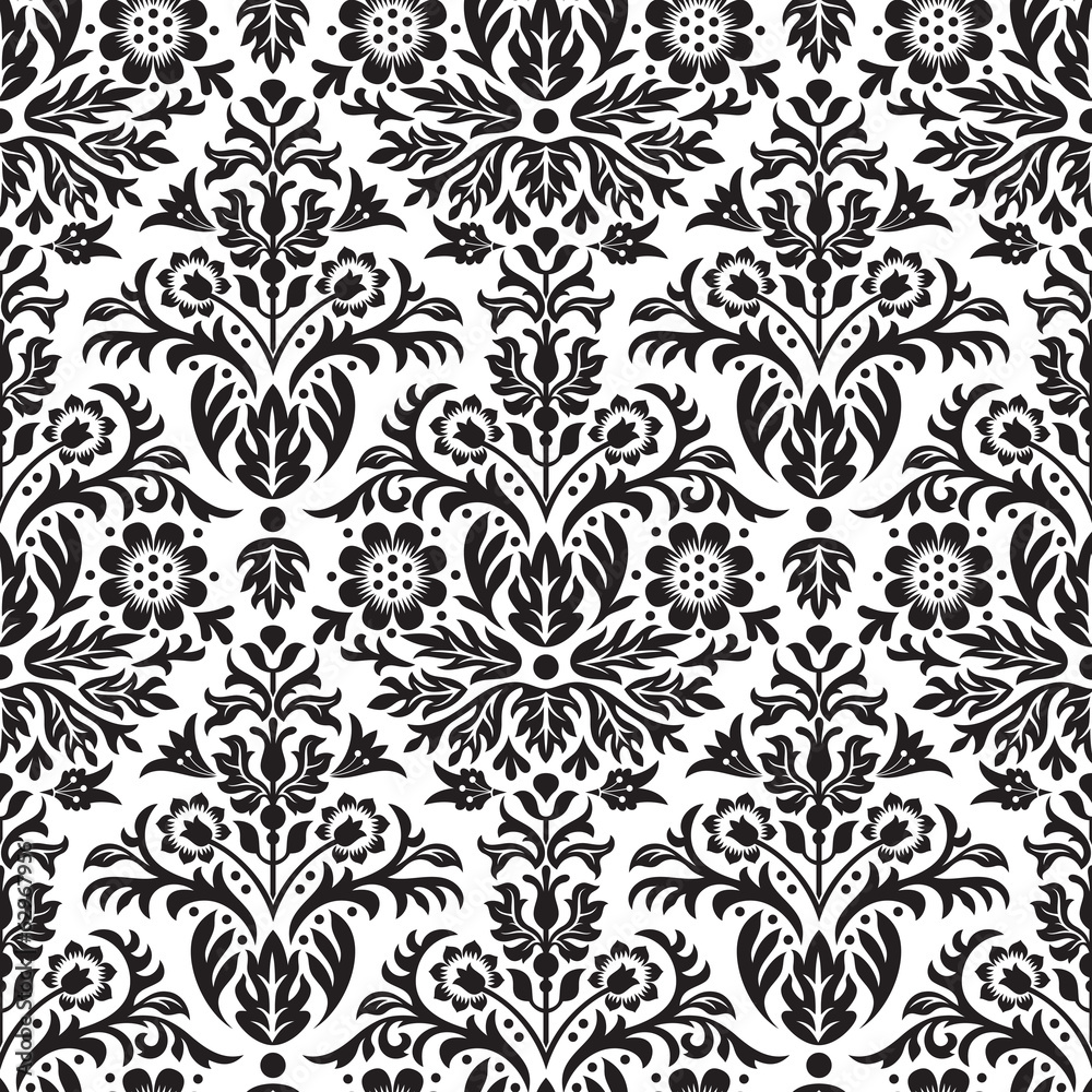 Tapeta Damask Seamless Floral Pattern