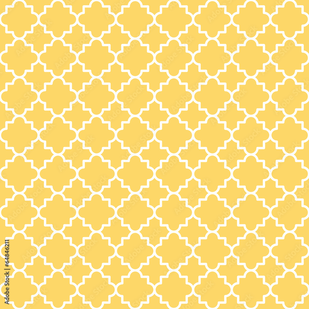 Tapeta Quatrefoil Lattice Pattern