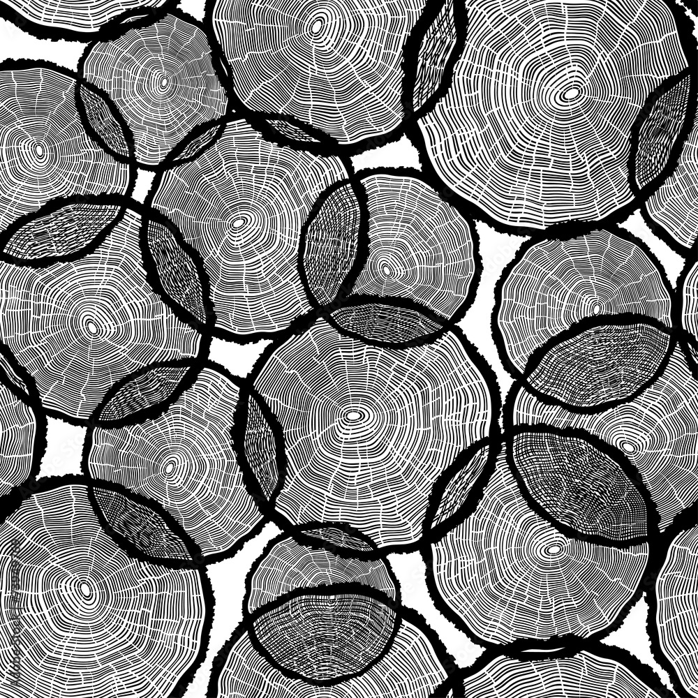 Tapeta Tree Rings Illustration