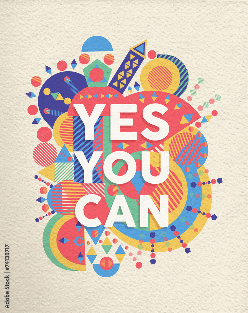 Obraz Dyptyk Yes you can quote poster