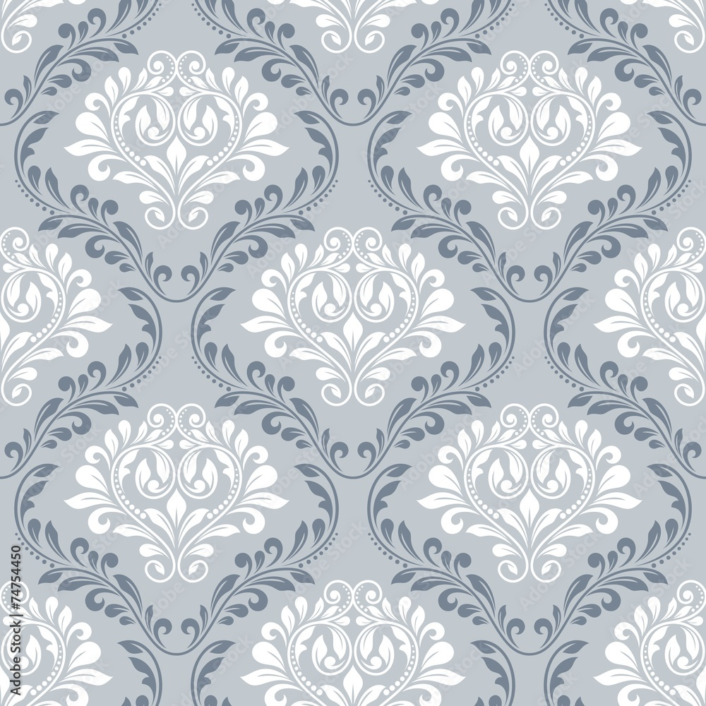 Tapeta Seamless damask pattern.