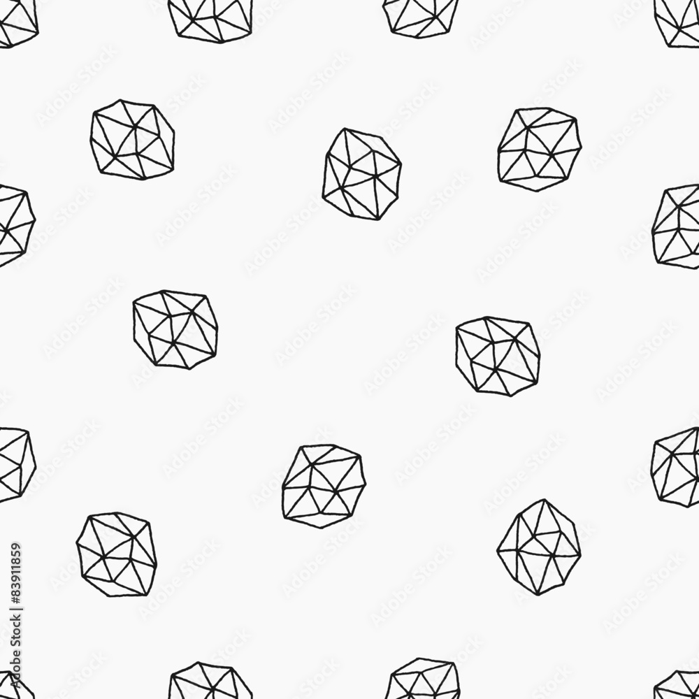 Tapeta Abstract Polygons Seamless