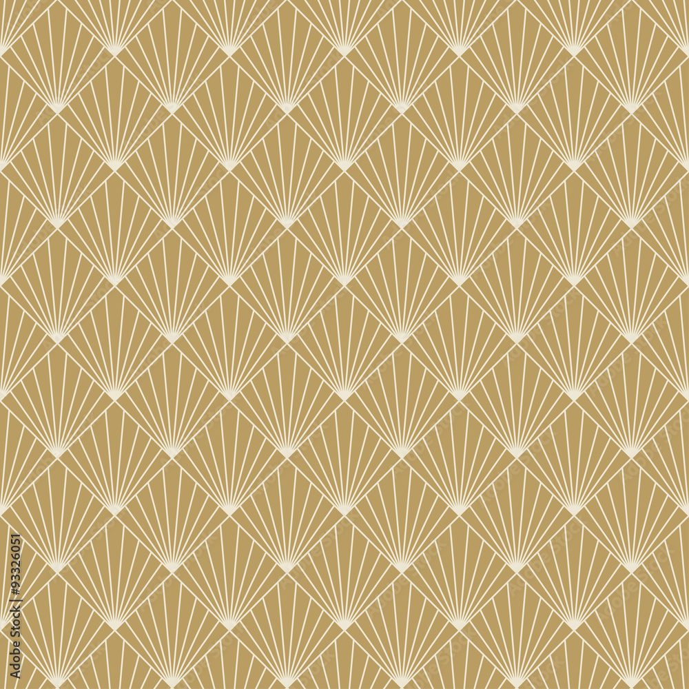 Tapeta art deco sunburst pattern