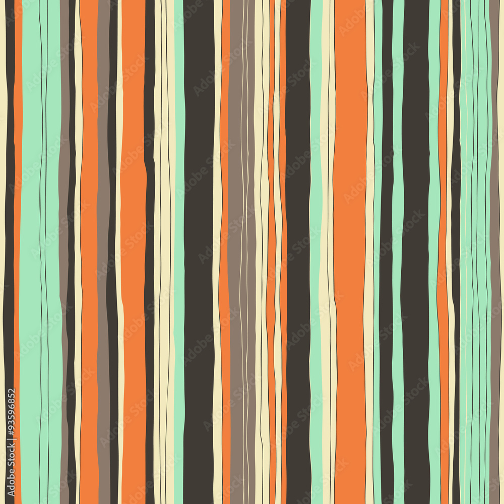 Tapeta Abstract retro colors stripes