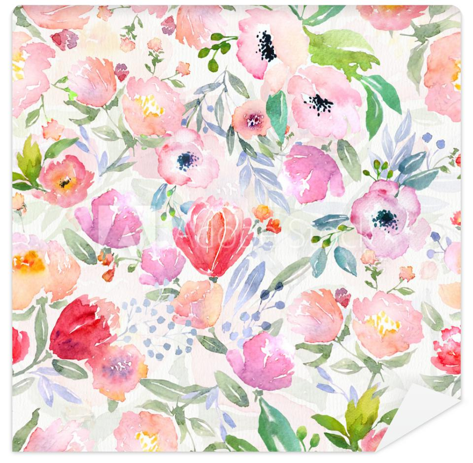 Fototapeta watercolor floral pattern