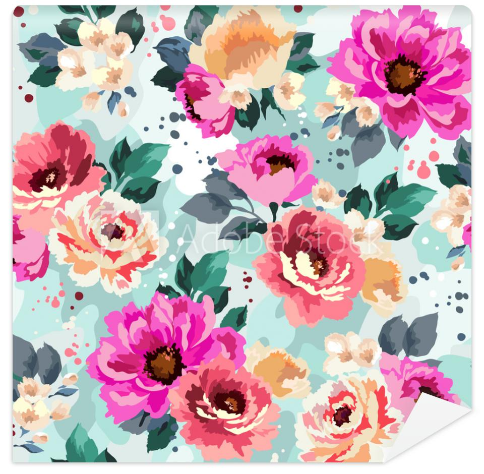 Fototapeta Beautiful seamless floral