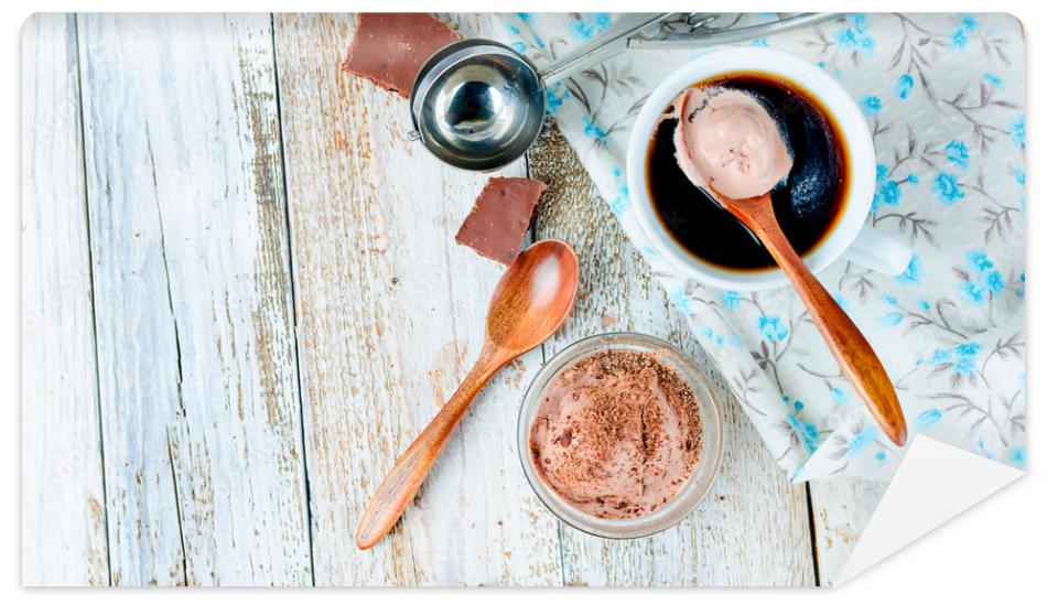Fototapeta chocolate ball ice cream and