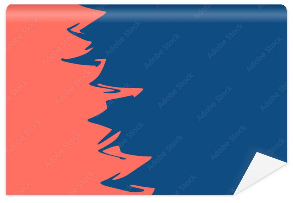 Fototapeta Double color blue and coral