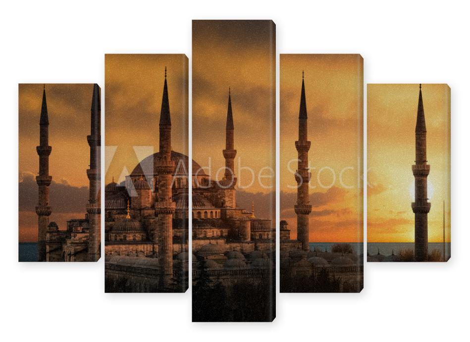 Obraz Pentaptyk The Blue Mosque in Istanbul