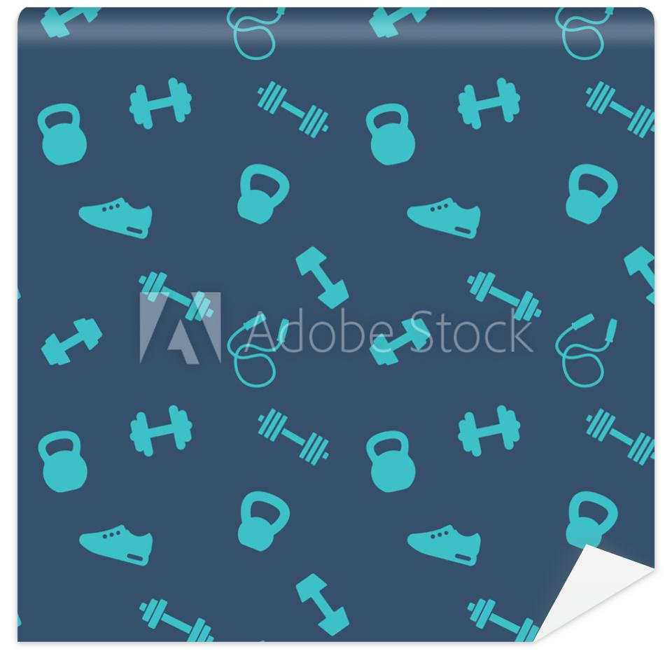 Tapeta seamless pattern with gym
