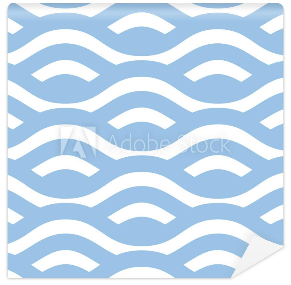 Tapeta Seamless line wave background