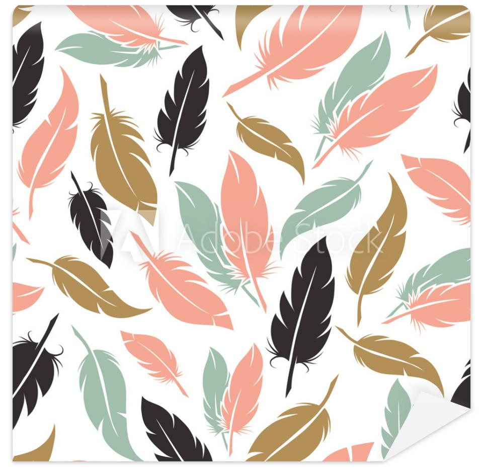 Tapeta Feather seamless pattern in