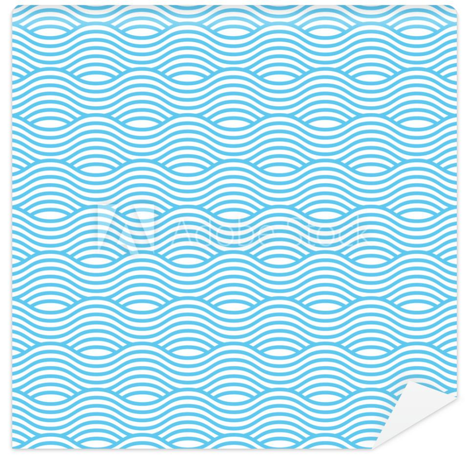 Tapeta Blue and white seamless wave