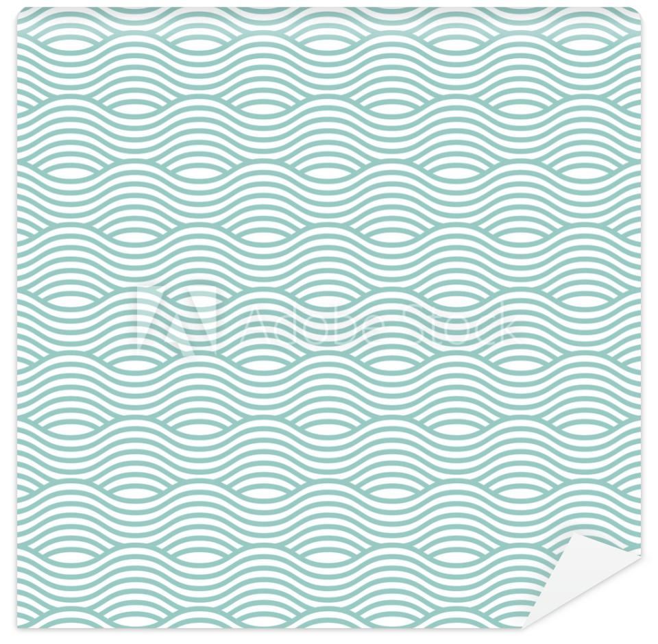 Tapeta Blue wave seamless pattern.