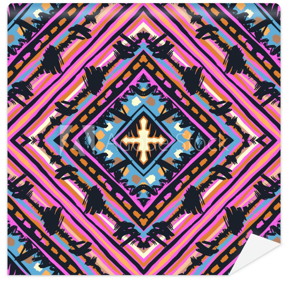 Tapeta Seamless tribal boho pattern.