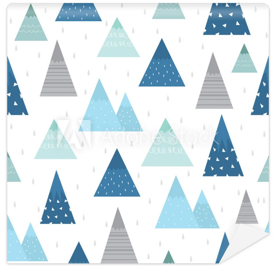 Tapeta Cute mountain pattern