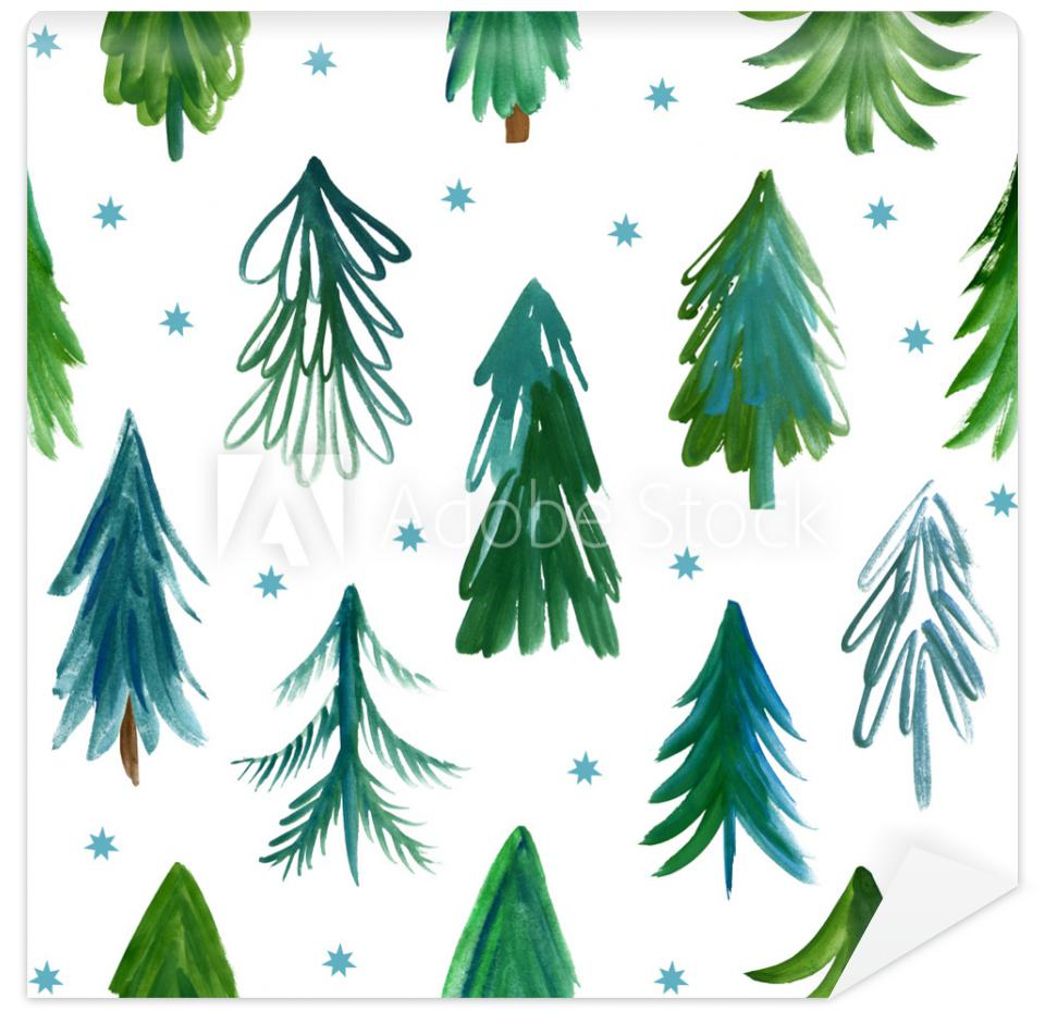 Tapeta Christmas trees, seamless