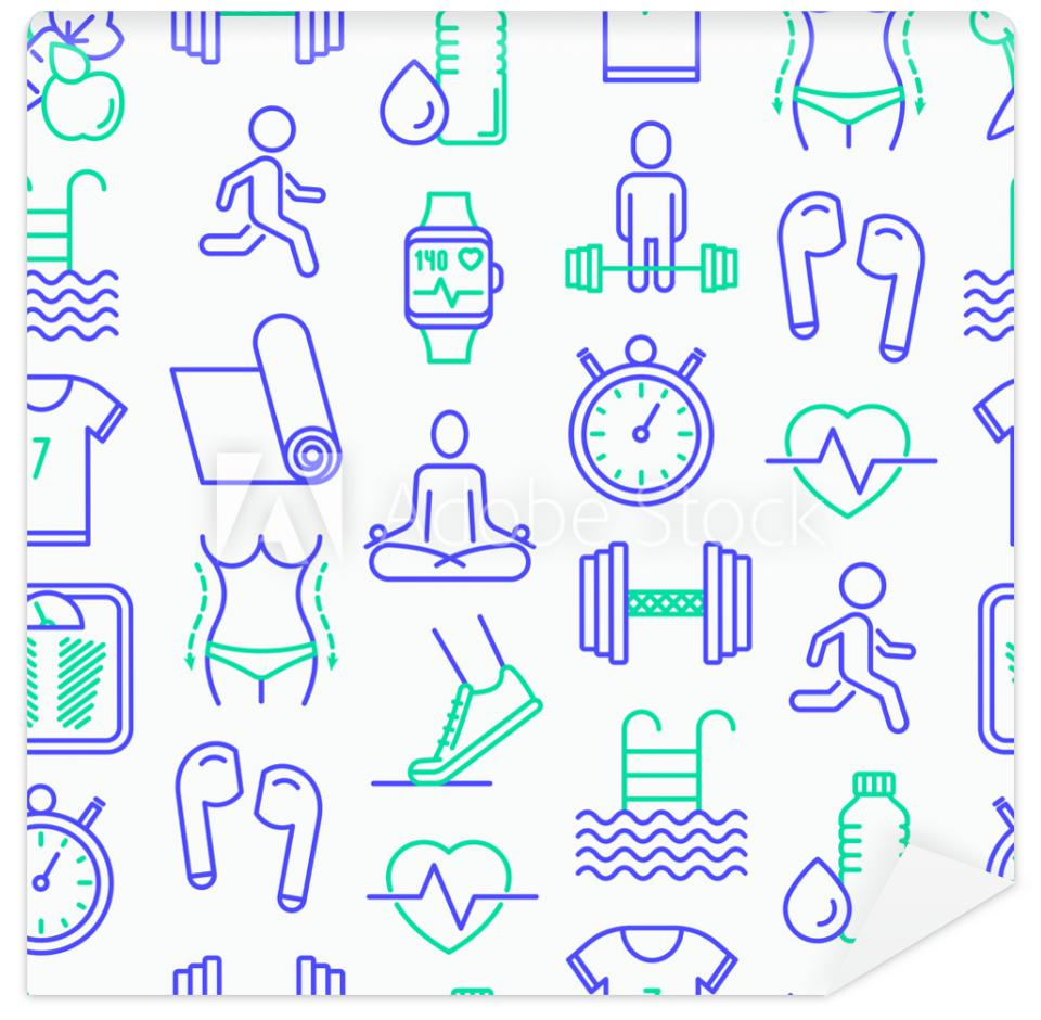 Tapeta Fitness seamless pattern with