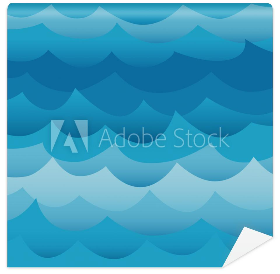 Tapeta Waves seamless pattern vector.