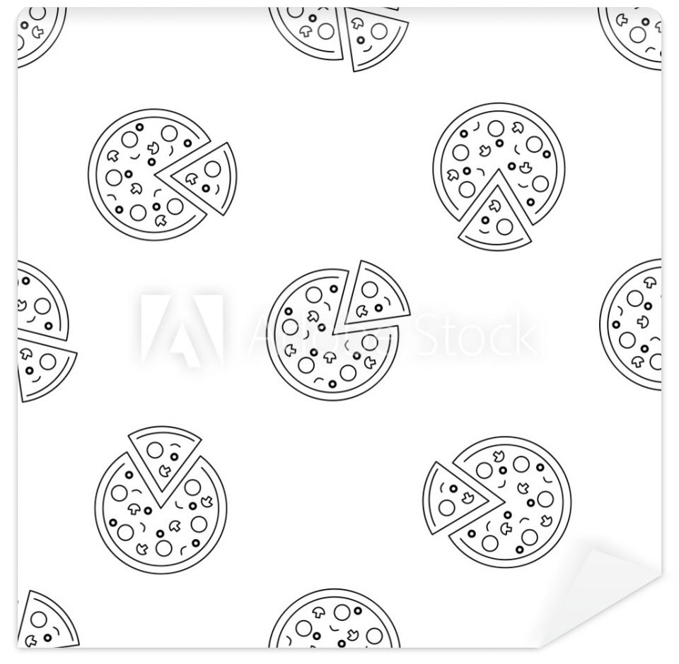 Tapeta Pizza seamless pattern with